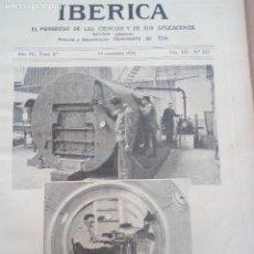 Coleccionismo de Revistas y Periódicos: REVISTA IBERICA Nº357 1920 LOCOMOTORA ELECTRICA TRIFASICA-LA NAVEGACION AEREA ISLAS CANARIAS . Lote 117125191