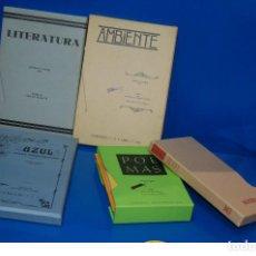 Coleccionismo de Revistas y Periódicos: COLECCIONISMO LIBROS FACSIMIL - LITERATURA-AMBIENTE-AZUL-POEMAS DESCATALOGADOS. Lote 117173331
