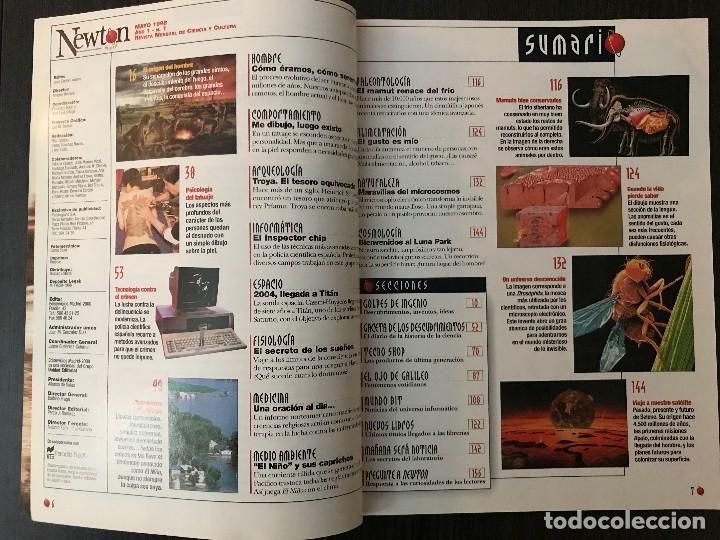 Coleccionismo de Revistas y Periódicos: Número 1, Revista Newton, Mayo 1998 - Foto 2 - 117249883