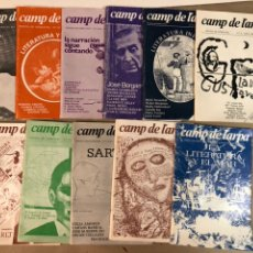 Coleccionismo de Revistas y Periódicos: CAMP DE L'ARPA - LOTE DE 14 EJEMPLARES - REVISTA DE LITERATURA - 1979-1981.. Lote 117292072