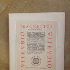 Coleccionismo de Revistas y Periódicos: FRAGMENTOS. REVISTA DE ARTE, NÚMS. 8 Y 9 (VITRUBIO). Lote 213935755