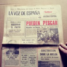 Coleccionismo de Revistas y Periódicos: LA VOZ DE ESPAÑA. SAN SEBASTIÁN 2/12/1977. Lote 117354666
