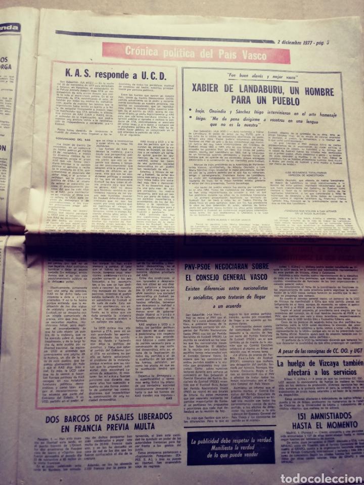 Coleccionismo de Revistas y Periódicos: La voz de España. San Sebastián, 15/10/1977. Sí a la amnistía - Foto 4 - 117355294