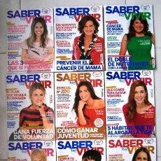 Coleccionismo de Revistas y Periódicos: LOTE DE 9 REVISTAS SABER VIVIR DIRIGIDA POR CHARO SIERRA DE EDICIONES RBA EN BARCELONA. Lote 117366959