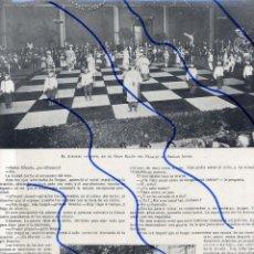 Coleccionismo de Revistas y Periódicos: BARCELONA 1904 AJEDREZ VIVIENTE PALACIO BELLAS ARTES HOJA REVISTA. Lote 117375939