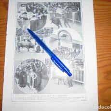 Coleccionismo de Revistas y Periódicos: RECORTE PRENSA : BECERRADA ARISTOCRATICA EN CARABANCHEL. BLANCO Y NEGRO, OCTUBRE 1915. Lote 117384747