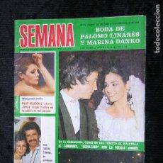 Coleccionismo de Revistas y Periódicos: F1 SEMANA Nº 1942 AÑO 1977 LA BODA DE PALOMO LINARES Y MARINA DANKO. Lote 117520043