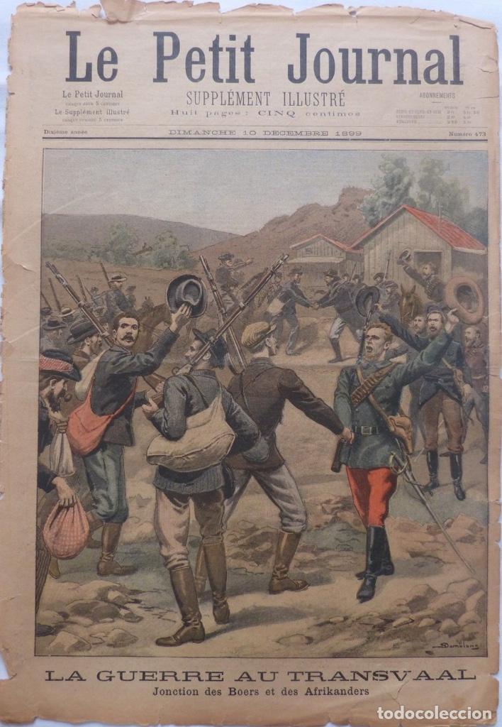 ANTIQUE PRINT PETIT JOURNAL FRENCH LA GUERRE AU TRANSVAAL ,1899 (Coleccionismo - Revistas y Periódicos Antiguos (hasta 1.939))