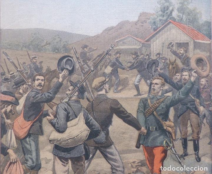 Coleccionismo de Revistas y Periódicos: Antique print petit journal french La Guerre Au Transvaal ,1899 - Foto 2 - 117522199
