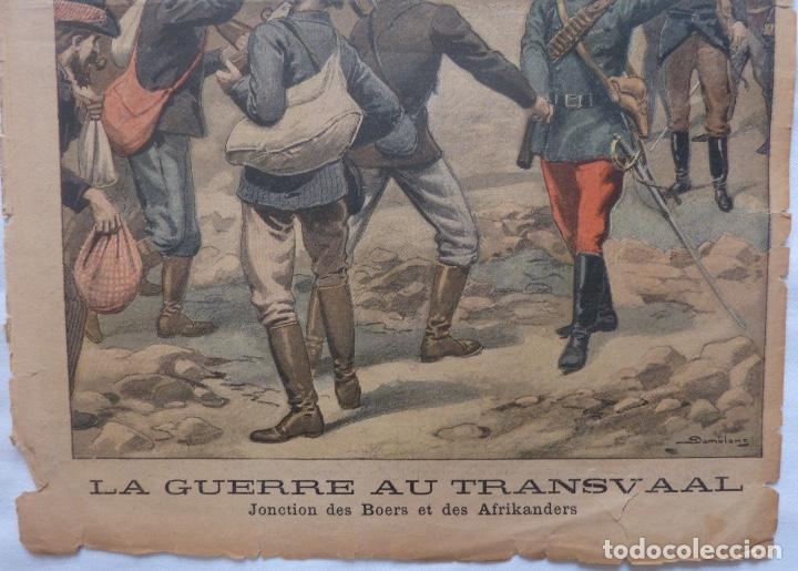 Coleccionismo de Revistas y Periódicos: Antique print petit journal french La Guerre Au Transvaal ,1899 - Foto 3 - 117522199