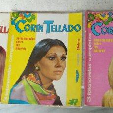 Coleccionismo de Revistas y Periódicos: CORIN TELLADO-3 FOTONOVELAS EN CADA TOMO-3 TOMOS-EDITORIAL ROLLAN.. Lote 117526287