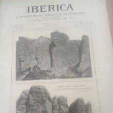 Coleccionismo de Revistas y Periódicos: IBERICA Nº310 1920 FOTO ENTOMOLOGICA DE PEÑARROYA,CAMPRODON, SETCASAS,TAJOS DEL MAS MUT. Lote 117651611
