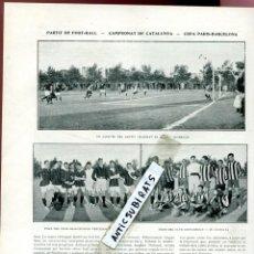 Coleccionismo de Revistas y Periódicos: REVISTA AÑO 1910 FUTBOL CLUB BARCELONA F. C. BARÇA CONTRA EL ESPAÑOL COPA CATALUNYA RCD. Lote 117726179