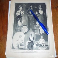 Coleccionismo de Revistas y Periódicos: RECORTE PRENSA : DISTINTOS RETRATOS DE S.M. DOÑA VICTORIA EUGENIA. BLANCO Y NEGRO, DICBRE 1915. Lote 117803563