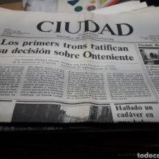 Coleccionismo de Revistas y Periódicos: PERIÓDICO CIUDAD DE ALCOY LOTE 74 MÁS 2 REVISTAS AÑOS 80. Lote 118084484