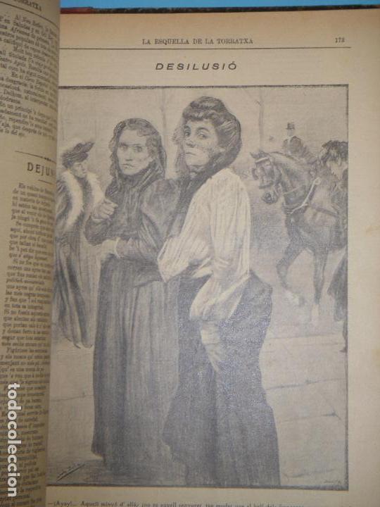 Coleccionismo de Revistas y Periódicos: LA ESQUELLA DE LA TORRATXA 1906 - AÑO COMPLETO EN 1 TOMO - (ILUSTRADO, EN BUEN ESTADO) - Foto 10 - 47478710