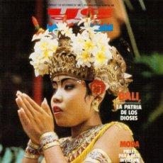 Coleccionismo de Revistas y Periódicos: 1987. BALI. MODA PIELES. CRISTÓBAL TORAL. BRIGITTE NIELSEN POR JAVIER GURRUCHAGA.. Lote 118150083