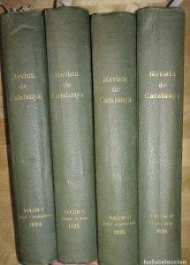 Revista de Catalunya 24 primeros números encuadernados en 4 tomos 1924-1925