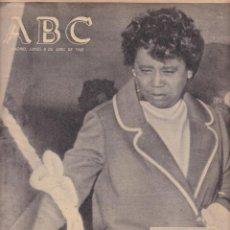 Coleccionismo de Revistas y Periódicos: ABC - 8 ABRIL 1968 - DIARIO DE INFORMACIÓN NACIONAL E INTERNACIONAL. Lote 118274319
