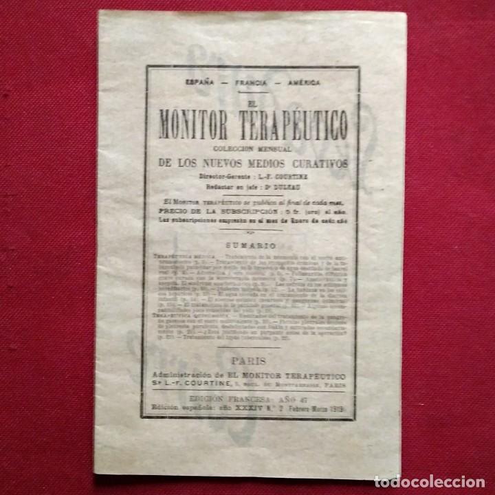 1919 EL MONITOR TERAPÉUTICO DE LOS NUEVOS MEDIOS CURATIVOS Nº2 - MUY BUEN ESTADO - MEDICINA (Coleccionismo - Revistas y Periódicos Antiguos (hasta 1.939))