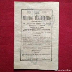 1919 EL MONITOR TERAPÉUTICO DE LOS NUEVOS MEDIOS CURATIVOS Nº2 - muy buen estado - MEDICINA