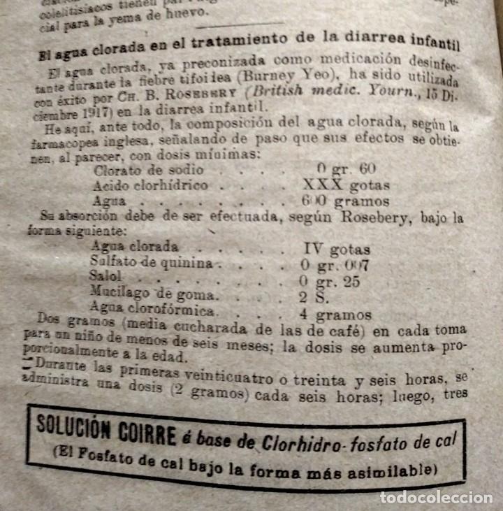 Coleccionismo de Revistas y Periódicos: 1919 EL MONITOR TERAPÉUTICO DE LOS NUEVOS MEDIOS CURATIVOS Nº2 - muy buen estado - MEDICINA - Foto 3 - 118350967