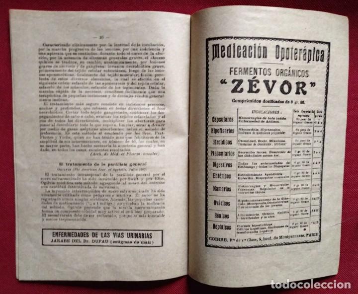 Coleccionismo de Revistas y Periódicos: 1919 EL MONITOR TERAPÉUTICO DE LOS NUEVOS MEDIOS CURATIVOS Nº2 - muy buen estado - MEDICINA - Foto 4 - 118350967