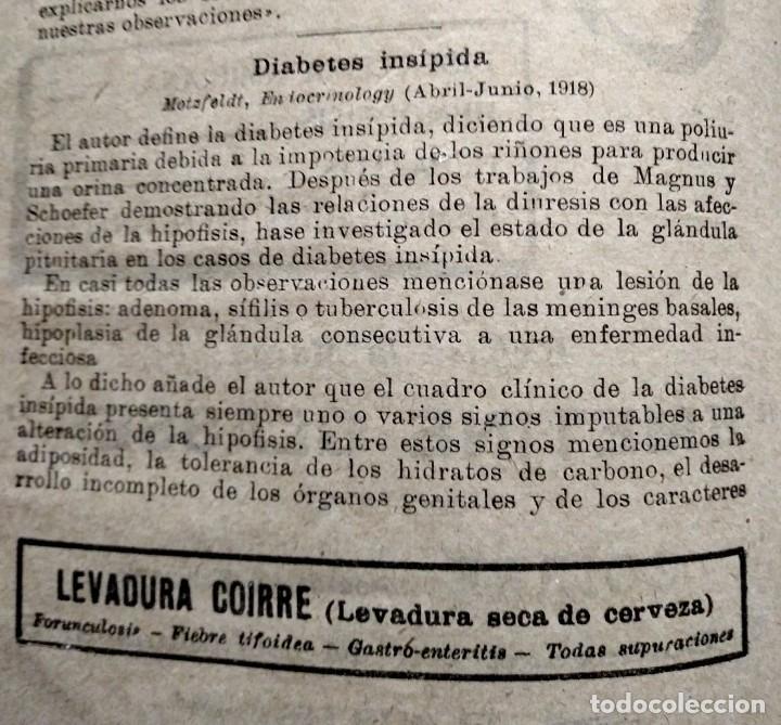 Coleccionismo de Revistas y Periódicos: 1919 EL MONITOR TERAPÉUTICO DE LOS NUEVOS MEDIOS CURATIVOS Nº2 - muy buen estado - MEDICINA - Foto 7 - 118350967