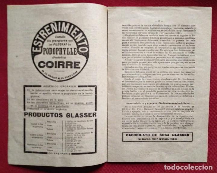 Coleccionismo de Revistas y Periódicos: 1919 EL MONITOR TERAPÉUTICO DE LOS NUEVOS MEDIOS CURATIVOS Nº2 - muy buen estado - MEDICINA - Foto 8 - 118350967