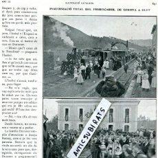 Coleccionismo de Revistas y Periódicos: REVISTA 1911 FERROCARRIL TREN GIRONA OLOT JOAN MASSIA MACIA VIOLINISTA FUTBOL DEPORTIVO ESPAÑOL RCD. Lote 118519555
