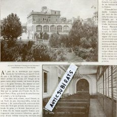 Coleccionismo de Revistas y Periódicos: REVISTA AÑO 1911 RESIDENCIA DE ANCIANOS TORRE SERT RIUS EN SARRIA XIRGU CATALANES EN CUBA . Lote 118519823