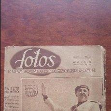 Coleccionismo de Revistas y Periódicos: REVISTA FOTOS SEMANARIO GRAFICO 18 JULIO 1940 DESFILE FRANCO FALANGE REVISTA AÑO 1940. Lote 118563423