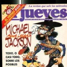 Coleccionismo de Revistas y Periódicos: EL JUEVES REVISTA SEMANAL NUMERO 0850: MICHAEL JACKSON, PAGINA CENTRAL CARICATURA DE MICHAEL JACKSON. Lote 118697344