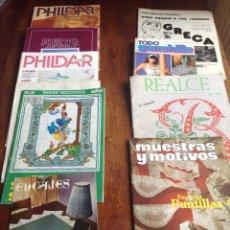 Coleccionismo de Revistas y Periódicos: OCHO REVISTAS GANCHILLO Y PUNTO DE CRUZ Y REGALO. Lote 118729328
