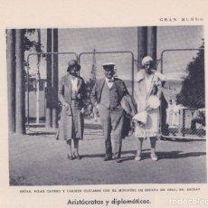 Colecionismo de Revistas e Jornais: EMBAJADOR EN OSLO D. MANUEL DE INCLÁN, SRTAS. PILAR CAVERO Y CARMEN OLIVARES - 1930. Lote 118754956