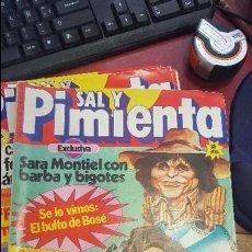 Coleccionismo de Revistas y Periódicos: LOTE DE 10 REVISTAS SAL Y PIMIENTA . Lote 118779903