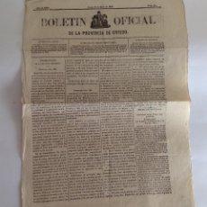 Coleccionismo de Revistas y Periódicos: BOLETÍN OFICIAL DE LA PROVINCIA DE OVIEDO. ASTURIAS.1869. Lote 118854963