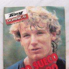 Coleccionismo de Revistas y Periódicos: REVISTA HOY DOMINICAL. WILANDER, OTRO ORO SUECO. ENERO 1983.. Lote 118943459
