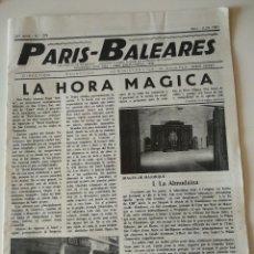 Coleccionismo de Revistas y Periódicos: REVISTA PARIS-BALEARES Nº 275 DE 1981. LA HORA MAGICA. Lote 119075671