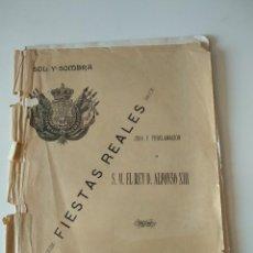 Coleccionismo de Revistas y Periódicos: NUMERO ESPECIAL REVISTA SOL Y SOMBRA JURA Y PROCLAMACION REY ALFONSO XIII, FIESTAS REALES 1902. Lote 119076587