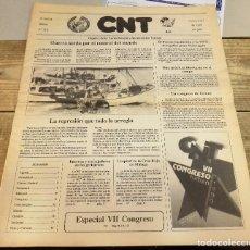 Coleccionismo de Revistas y Periódicos: BILBAO, 1990, PERIODICO CNT, NUMERO 112, MARZO-ABRIL 1990, 20 PAGINAS , COMPLETO. Lote 119090483