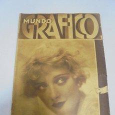 Coleccionismo de Revistas y Periódicos: REVISTA. MUNDO GRAFICO. Nº 987. MARY NOLAN, BELLEZA DE BADAJOZ, SAN BARTOLOME. Lote 119095271