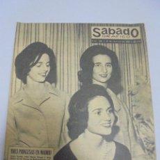Coleccionismo de Revistas y Periódicos: REVISTA. SABADO GRAFICO. Nº 286. AÑO 1962. TRES PRINCESAS EN MADRID, MODAS, EL REY DE LOS BRILLANTES. Lote 119095887