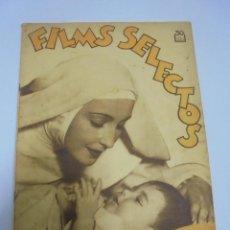 Coleccionismo de Revistas y Periódicos: REVISTA. FILMS SELECTOS. Nº 219. DICIEMBRE 1934. CINE EN LA VIDA MODERNA, LUPITA TOVAR, CINE Y MODA. Lote 119096607