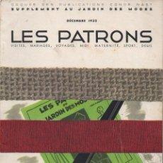 Coleccionismo de Revistas y Periódicos: LES PATRONS DU JARDIN DES MODES DECEMBRE 1932 REVISTA DE MODAS . Lote 119123615