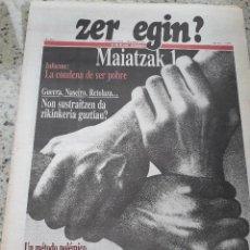 Coleccionismo de Revistas y Periódicos: ZER EGIN? Nº 282 28 ABRIL 1990 EMK MOVIMIENTO COMUNISTA DE EUSKADI.POBREZA.CANARIAS.YUGOSLAVIA. Lote 119209715