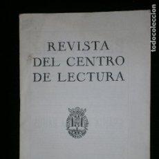 Coleccionismo de Revistas y Periódicos: F1 REVISTA DEL CENTRO DE LECTURA DE REUS Nº 22 ABRIL 1954. Lote 119209879