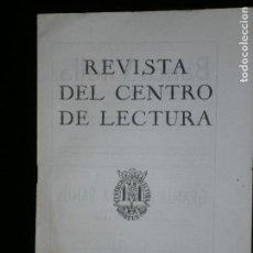 Coleccionismo de Revistas y Periódicos: F1 REVISTA DEL CENTRO DE LECTURA Nº 20 FEBRERO DE 1954. Lote 119210231