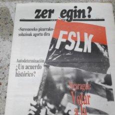 Coleccionismo de Revistas y Periódicos: ZER EGIN? Nº 278 24 FEBRERO 1990 EMK MOVIMIENTO COMUNISTA DE EUSKADI.GRAPO.NICARAGUA.CHADOR.MANDELA . Lote 119210723