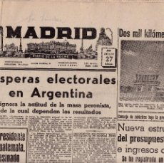Coleccionismo de Revistas y Periódicos: MADRID - PERIODICO - JULIO 1957. Lote 119433755